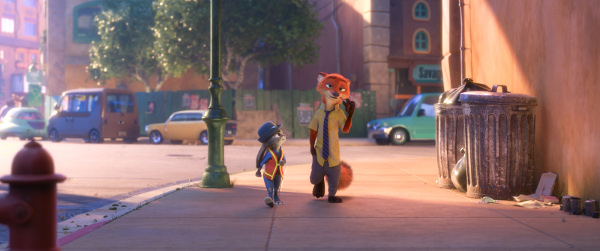 "RELUCTANT PARTNER -- Fast-talking, con-artist fox Nick Wilde is not really interested in helping rookie officer Judy Hopps crack her first case. Directed by Byron Howard and Rich Moore, and produced by Clark Spencer, Walt Disney Animation Studios' ""Zootopia"" opens in theaters on March 4, 2016. ©2016 Disney. All Rights Reserved."
